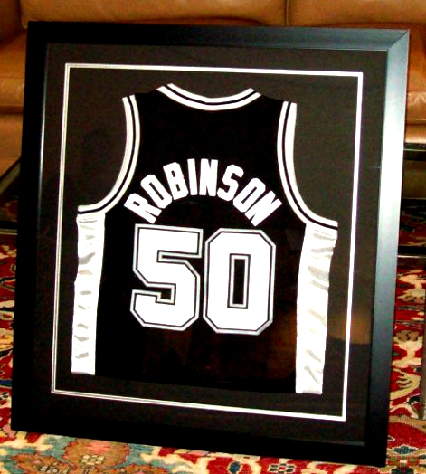 Jersey Shadowbox: frame for basketball jersey